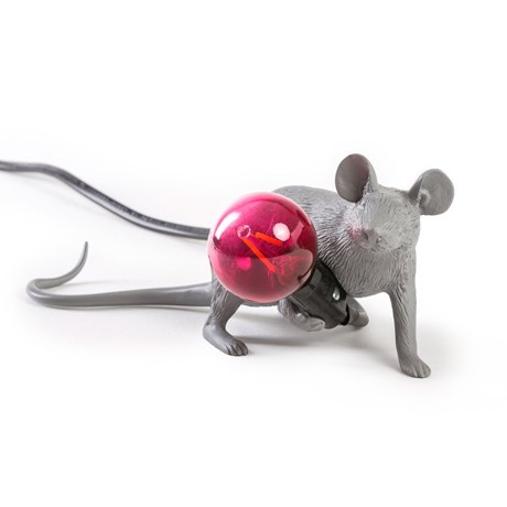 Mouse Lamp Grey Lie Down