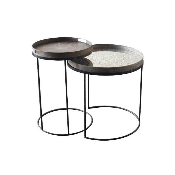 Tavolino Con Vassoio.Tavolino Alto Con Vassoio
